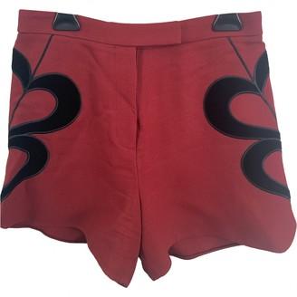 Elie Saab Burgundy Shorts for Women