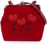 Familiar tulip embroidered shoulder bag