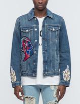 MSGM Vintage Washed Denim Jacket