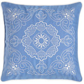 "Matouk 20""Sq. Plumes Ella Medallion Pillow"