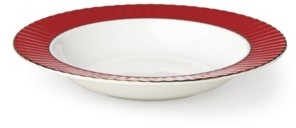 Lenox Pleated Colors Red Pasta/Rim Soup
