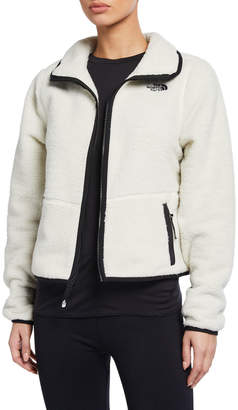 The North Face Dunraven Zip Front Sherpa Fleece Crop Jacket