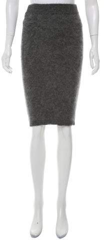 Intermix Angora Knee-Length Skirt