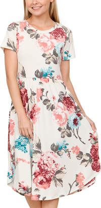 Egs By Eloges egs by eloges Women's Casual Dresses IVORY - Ivory & Mint Floral Pocket Midi Dress - Women & Plus