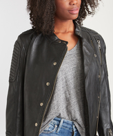 Black Warrior Princess Leather Moto Jacket - Plus Too
