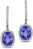Effy Jewelry Effy Gemma 14K White Gold Tanzanite and Diamond Earrings, 4.14 TCW