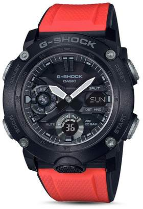 G-Shock Analog-Digital Red Strap Watch, 48.7mm