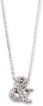 Roberto Coin 18k White Gold Diamond Ampersand Pendant Necklace