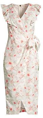 Rebecca Taylor Women's Kamea Floral Wrap Dress