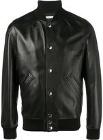 Givenchy star logo bomber jacket - men - Cotton/Goat Skin/Lamb Skin/Cupro - 48