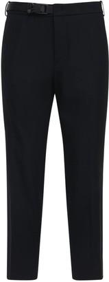 Solid Homme Wool Blend Pants W/ Belt