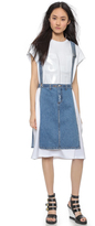 Sjyp Open Side Denim Apron Skirt