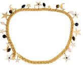 Judith Leiber Embellished Chain-Link Belt