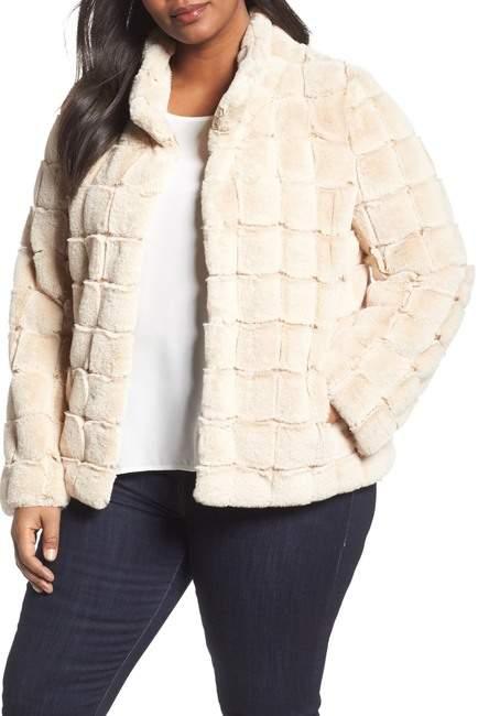 Faux Fur Jacket (Plus Size)