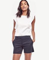 Ann Taylor Petite Cotton Mid Shorts