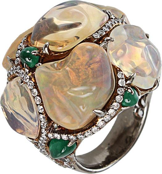 Arunashi Fire Opal Ring