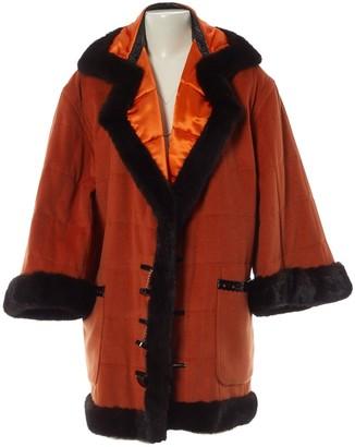 Christian Dior Orange Wool Coat for Women