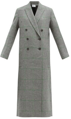 Pallas Paris - Harrison Prince-of-wales-check Wool Coat - Black Green