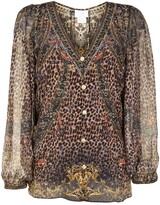 Thumbnail for your product : Camilla Abingdon Palace lace-up side silk blouse