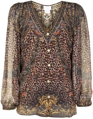 Camilla Abingdon Palace lace-up side silk blouse
