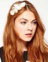 Johnny Loves Rosie Opaque Rhinestoned Flower Headband