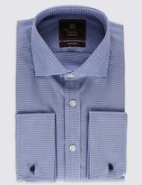 Marks and Spencer Pure Cotton Tailored Fit Cut Away Collar Shirt