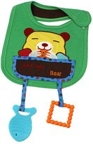 Generic Cartoon Cotton Toddler Infant Baby Bibs Pinafore with Teethers