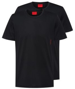 HUGO BOSS Two cotton bodywear T-shirts with vertical logo