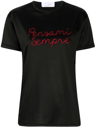 Giada Benincasa Pensami Sempre-embroidered T-shirt