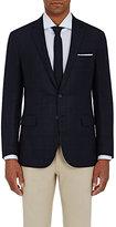 Ralph Lauren Purple Label Men's Windowpane-Plaid Two-Button Sportcoat-BLUE