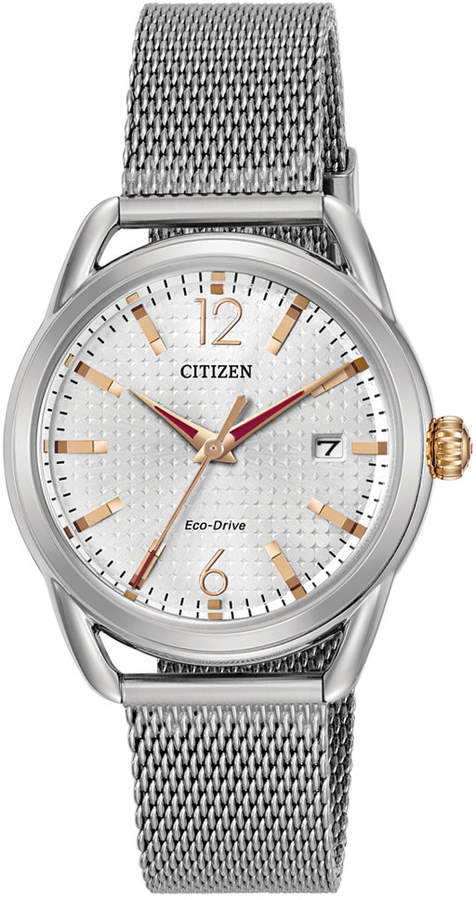Citizen Drive from Eco-Drive Women's Stainless Steel Mesh Bracelet Watch 34mm FE6081-51A