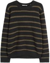 Vince Black Striped Wool Blend Jumper