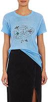 The Elder Statesman Women's Galaxy-Print Cashmere-Silk T-Shirt