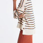 Madewell Brownstone Side-Button Sweater in Stripe