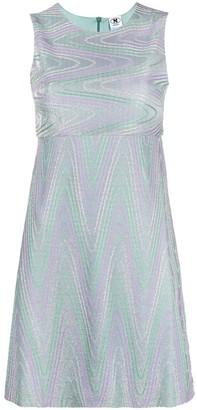 M Missoni Zigzag-Print Sleeveless Short Dress