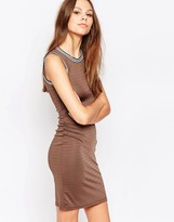 Glamorous Bodycon Dress With Stripe Trim