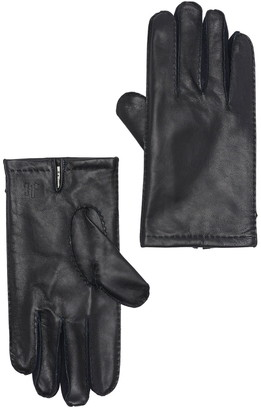 Hickey Freeman Napa Leather and 100% Cashmere Lined Hand Stitched Gloves