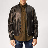 Dsquared2 Men's Leather Bomber Jacket Black