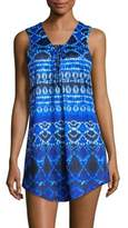 J Valdi Tye-Dye Lace-Up Dress