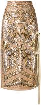 No.21 sequin straight skirt - women - Silk/Polyester - 40
