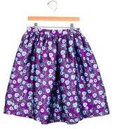 Oscar de la Renta Girls' Floral Print A-Line Skirt