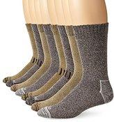 Dickies Men's 8 Pack Marled Moisture Control Crew Socks