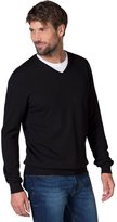 Wool Overs WoolOvers Mens 100% Merino V Neck Knitted Sweater , L