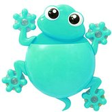 Cute Cartoon Gecko Kids Toothbrush Toothpaste Holder Wall Mounted Suction Cup Bathroom Decorr-Blue