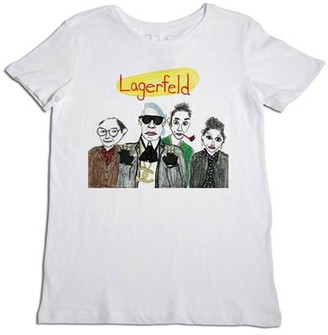 Unfortunate Portrait The Lagerfeld Tee In White - S