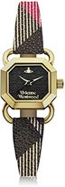Vivienne Westwood Women's VV085BKBR Ravenscourt Analog Display Swiss Quartz Multi-Color Watch