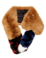 Fendi Striped fur scarf