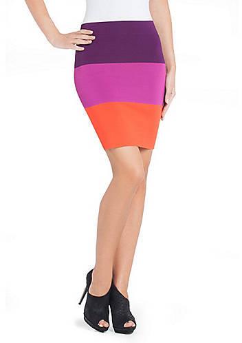 BCBGMAXAZRIA Scarlett Color-Blocked Pencil Skirt