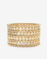 White House Black Market Golden Wide Stretch Bracelet