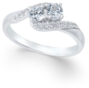 Two Souls, One Love Diamond Anniversary Ring (1/2 ct. t.w.) in 14k White Gold